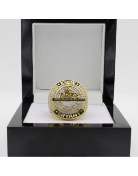 Kobe Bryant 2016 Los Angeles Lakers NBA Basketball Career Championship Ring