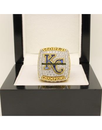 2015 Kansas City Royals World Series Baseball Gemstone Championship Ring