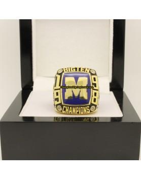 1998 Michigan Wolverines Big Ten co-champion Footbal Championship Ring