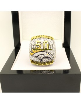 Denver Broncos 2015 Super Bowl 50 Football Championship Ring